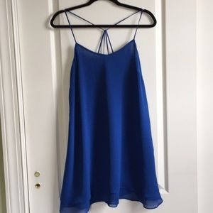 Top Shop cross strap mini slip dress